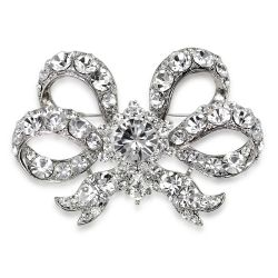 Buckingham Palace Double Bow Brooch