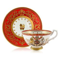 Buckingham Palace Coronation Commemorative Teacup and Saucer