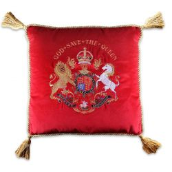 Buckingham Palace Red Velvet Cushion