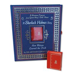 Miniature book of A Miniature Treasure from Queen Mary's Dolls' House: A Sherlock Holmes Story How  Watson Learned the Trick by Sir Arthur Conan Doyle.