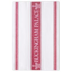 Buckingham Palace Red Waffle Tea Towel
