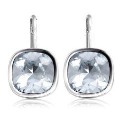 Buckingham Palace White Crystal Earrings