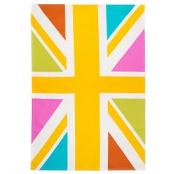 Buckingham Palace Neon Union Flag Tea Towel