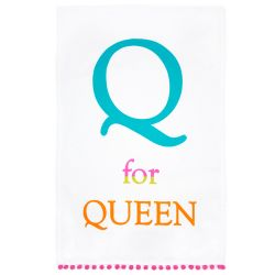 Buckingham Palace Q for Queen Neon Tea Towel