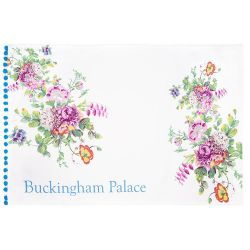 Buckingham Palace Blue Pom Pom Tea Towel