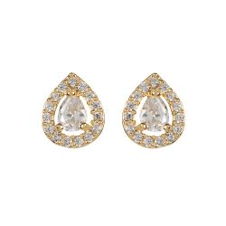 Buckingham Palace Gold Teardrop Earrings