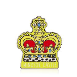Windsor Castle Crown Pin Badge