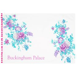 Buckingham Palace Pink Pom Pom Tea Towel