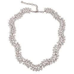 Buckingham Palace Crystal Leaf Necklace