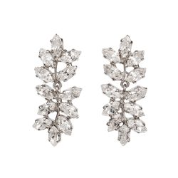 Buckingham Palace Crystal Leaf Earrings