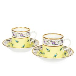 Special Edition Sèvres Yellow Coffee Cups