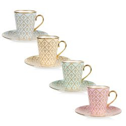Buckingham Palace Set of 4 Minton Coffee Cup and Saucer