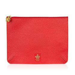 Buckingham Palace Red Leather Accessories Pouch