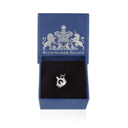 Buckingham Palace Silver Queen Victoria's Crown Charm