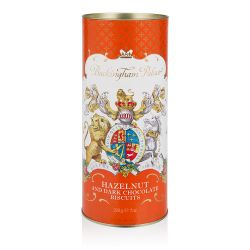 Buckingham Palace Hazelnut and Chocolate Chip Biscuit Tube