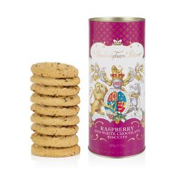 Buckingham Palace White Chocolate and Raspberry Biscuit Tube