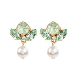 Vicki Sarge Pastel Green Pearl Drop Earrings