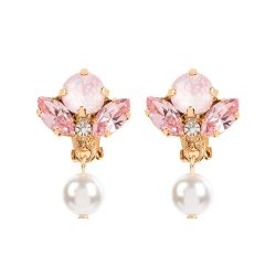 Vicki Sarge Pastel Pink Pearl Drop Earrings