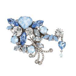 Vicki Sarge Pastel Blue Crystal Brooch
