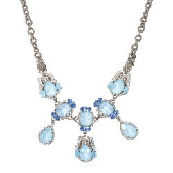 Vicki Sarge Pastel Blue Crystal Necklace