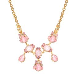 Vicki Sarge Pastel Pink Crystal Necklace