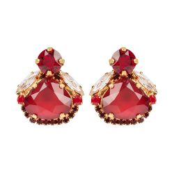 Vicki Sarge Ruby Red Stud Earrings