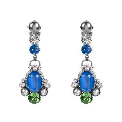 Vicki Sarge Sapphire Blue Drop Clip Earrings