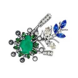 Vicki Sarge Emerald Green Brooch