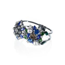 Vicki Sarge Sapphire Blue Crystal Cuff