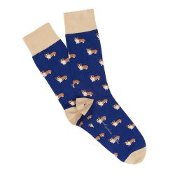 Navy Corgi Socks