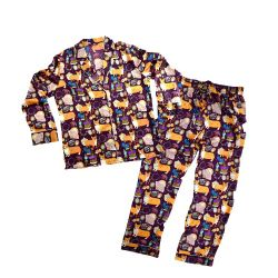 Karen Mabon 'Oh So Royal' Purple Silk Pyjamas
