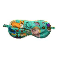 Karen Mabon 'Oh So Royal' Turquoise Silk Eye Mask
