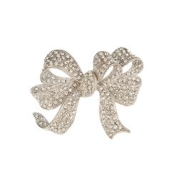 Crystal Bow Brooch