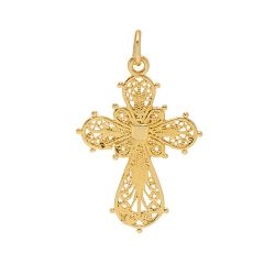 Filigree Cross Charm