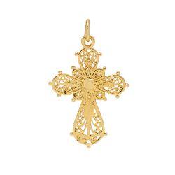 Filigree Cross Charm