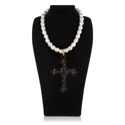 Vicki Sarge Black Cross Necklace