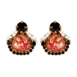 Vicki Sarge Black and Red Stud Earrings