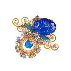 Vicki Sarge Blue Brooch