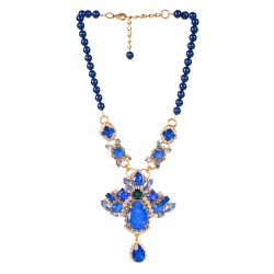 Vicki Sarge Large Blue Necklace