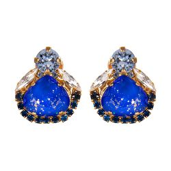 Vicki Sarge Blue Stud Earrings