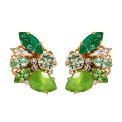 Vicki Sarge Green Spike Earrings