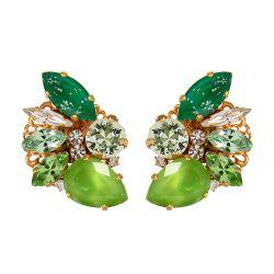 Vicki Sarge Green Spike Earrings