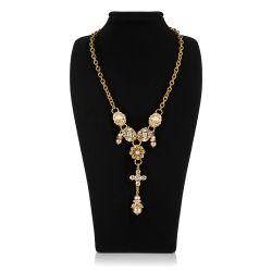Vicki Sarge Champagne Statement Necklace