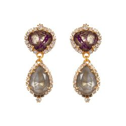 Vicki Sarge Purple and Grey Drop Earrings