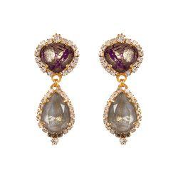 Vicki Sarge Purple and Grey Drop Earrings