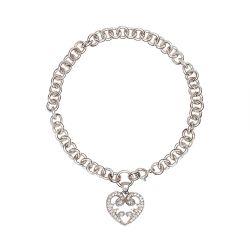 Halo Heart Bracelet