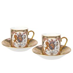 Chinoiserie Two Cup and Saucer Set