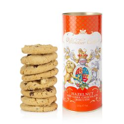 Windsor Castle Hazelnut and Chocolate Chip Biscuit Tube