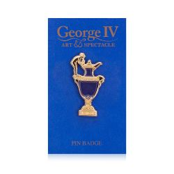 George IV Sèvres Blue Vase Pin Badge