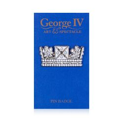 George IV Crown Pin Badge